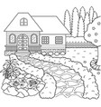 house and garden vector image vector image