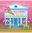 ice cream parlor cold dessert business for summer vector image vector image