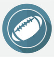 icon american football on white circle with a vector image vector image