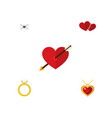 icon flat love set of pendant arrow love and vector image vector image
