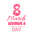 international womans day holiday on eight of march vector image