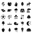leafage icons set simple style vector image vector image