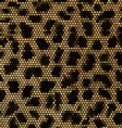Leopard mosaic background vector image vector image