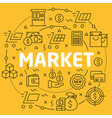 linear market vector image