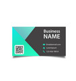 modern business card black and green background ve vector image vector image