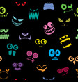 monsters halloween pattern vector image vector image