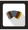 Oktoberfest accordion icon flat style vector image vector image