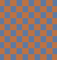 orange and blue seamless fabric texture pattern vector image vector image
