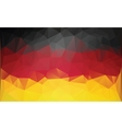Polygonal german flag vector image