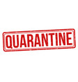 quarantine sign or stamp vector image