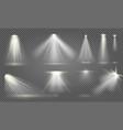 realistic spotlight illumination effect isolated vector image