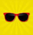 realistic sunglasses on background vector image vector image