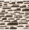 Seamless abstract cartoon background with many car vector image vector image