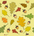 seamless pattern autumn leaves background autumn vector image