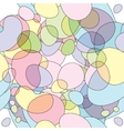 Seamless round bubbles pattern vector image