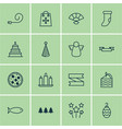 set of 16 holiday icons includes festive vector image vector image