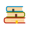 set of book icon flat style vector image