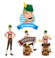 Set of men at Oktoberfest vector image vector image