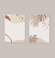 set tropical summer artistic greeting cards vector image vector image