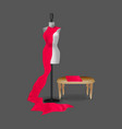 sewing fashion mannequin realistic mockup vector image