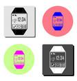 smartwatch flat icon vector image
