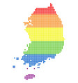 spectrum dotted lgbt south korea map vector image