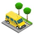 Taxi isometric 3d van car truck cargo vector image