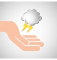weather concept forecast cloud lightning icon vector image vector image