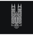 Westminster Abbey Icon 1 vector image vector image