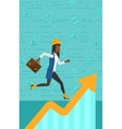 Woman running on growth graph vector image vector image