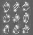 xmas realistic balls new year glass toys holiday vector image