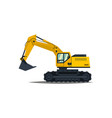 yellow excavator isolated on white background vector image