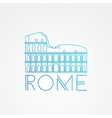 one line minimalist icon of Coliseum Rome vector image