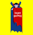 dracula in happy halloween holiday night vector image