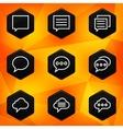 Speech bubble Hexagonal icons set on abstract vector image