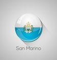 European flags set - San Marino vector image