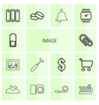 14 image icons vector image vector image