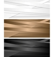 Abstract corporate banners with stripes vector image vector image