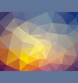 abstract dusk triangles background vector image
