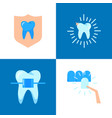 aesthetic dentistry icon set in flat style vector image