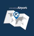 airport terminal design vector image vector image