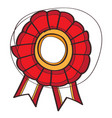 award ribbon icon with a black outline on a white vector image vector image