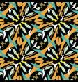 aztec style tribal ethnic geometric seamless vector image vector image