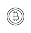 bitcoin coin cryptocurrency line icon vector image