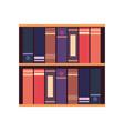 bookshelf books learning vector image