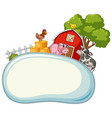 border template with farm animals in background vector image