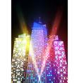 bright night cityscape vector image vector image