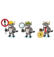 Buffalo Gray Mascot with sign vector image vector image
