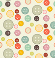 Buttons - Retro Seamless Flat Design Background vector image