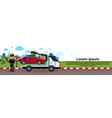 car in towing away zone parking vehicle vector image